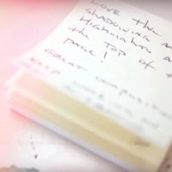 sticky note critique