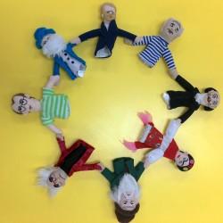 artist finger puppets