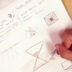 student brainstorming