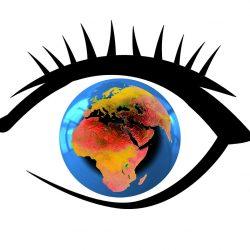 eye with globe inside