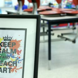 Keep Calm and Teach Art Poster