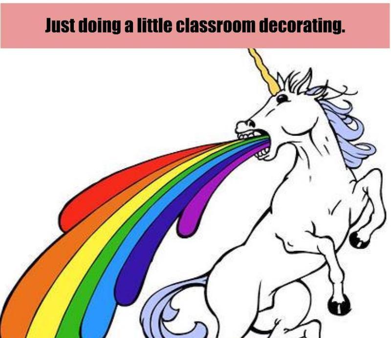 unicorn barfing