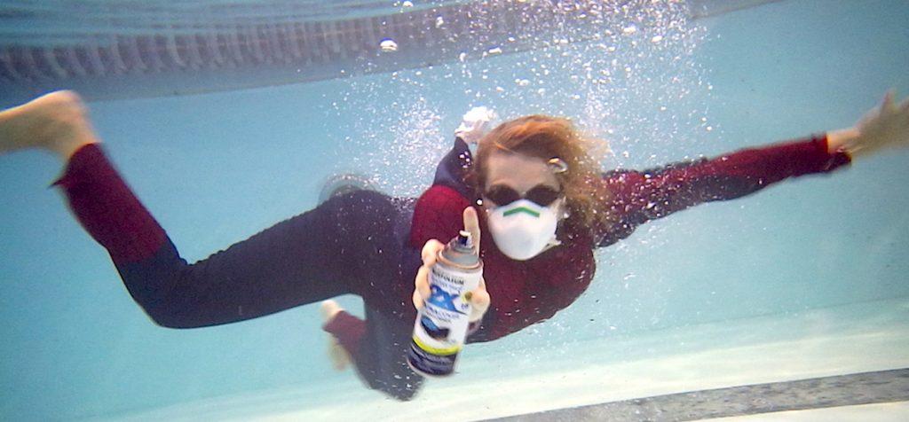 underwater photo shoot