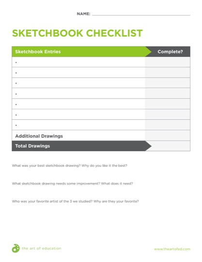 https://artofed-uploads.nyc3.digitaloceanspaces.com/2018/04/SketchbookChecklist.pdf