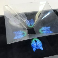 photo showing hologram process