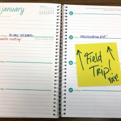 field trip on calendar