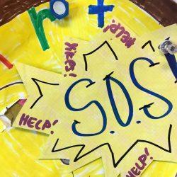 SOS sign