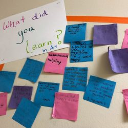 sticky note exit tickets