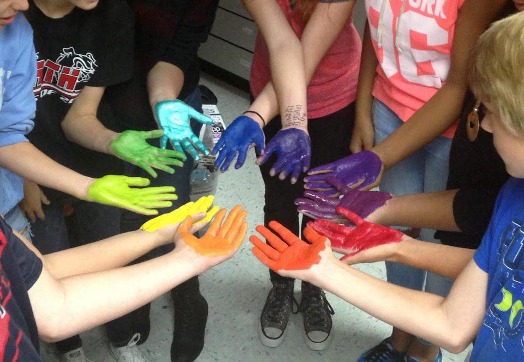 color wheel hands