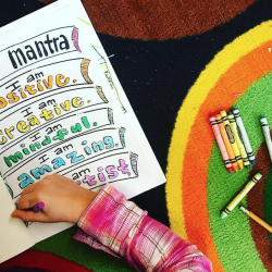student coloring mantra