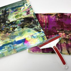 squeegee paintings