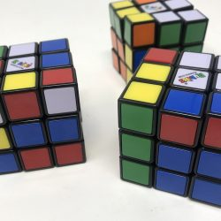 Three Unsolved Rubik's Cubes