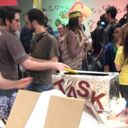 Image of people at a task party