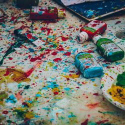 splattered paint