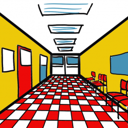 Image of a digital drawing done with perspective