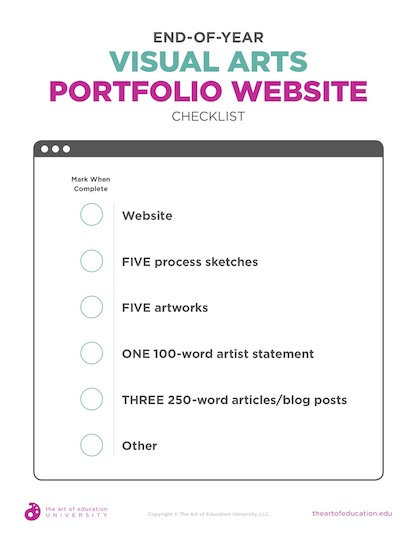 https://artofed-uploads.nyc3.digitaloceanspaces.com/2019/10/57.2EndOfYearVisualArtsPortfolioWebsiteChecklist.pdf