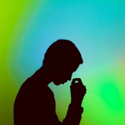 silhouette of a figure