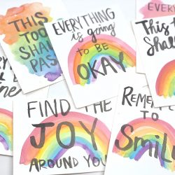 Cards with encouraging messages