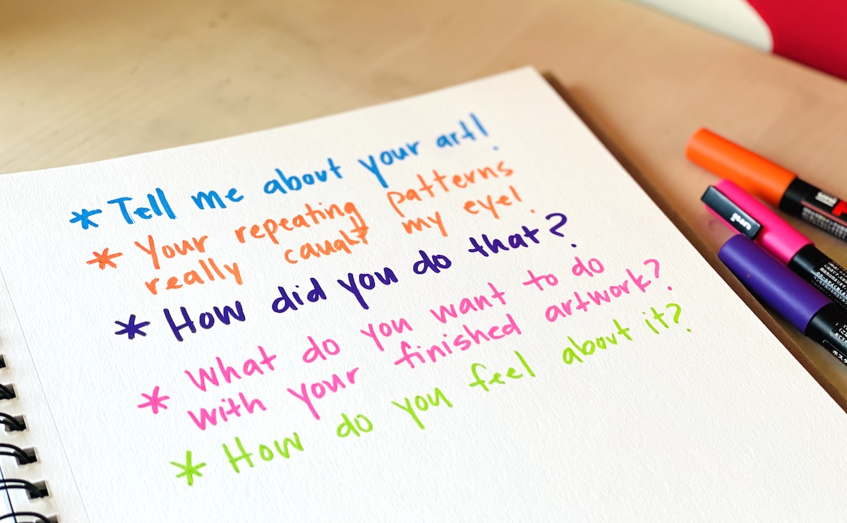 questions to ask kids about art