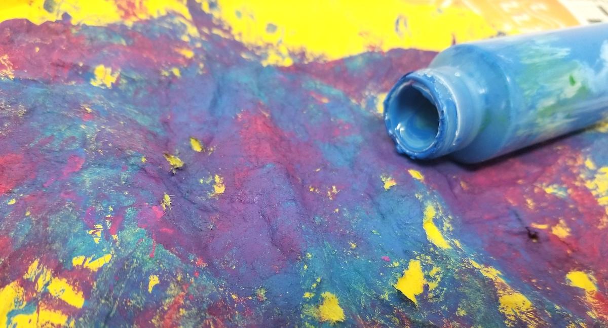 empty paint bottle