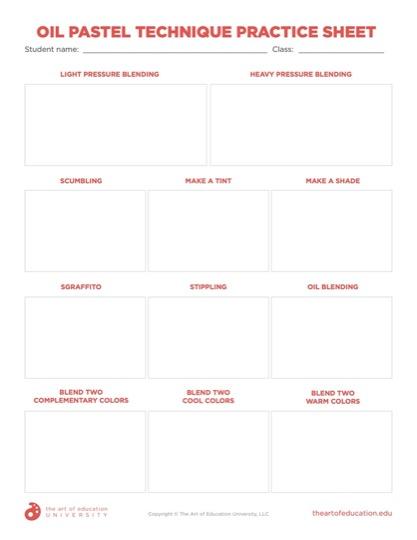 https://artofed-uploads.nyc3.digitaloceanspaces.com/2020/05/64.2_Oil_Pastel_Technique_Practice_Sheet.pdf