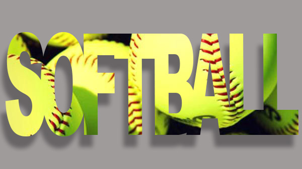 text that spells out softball