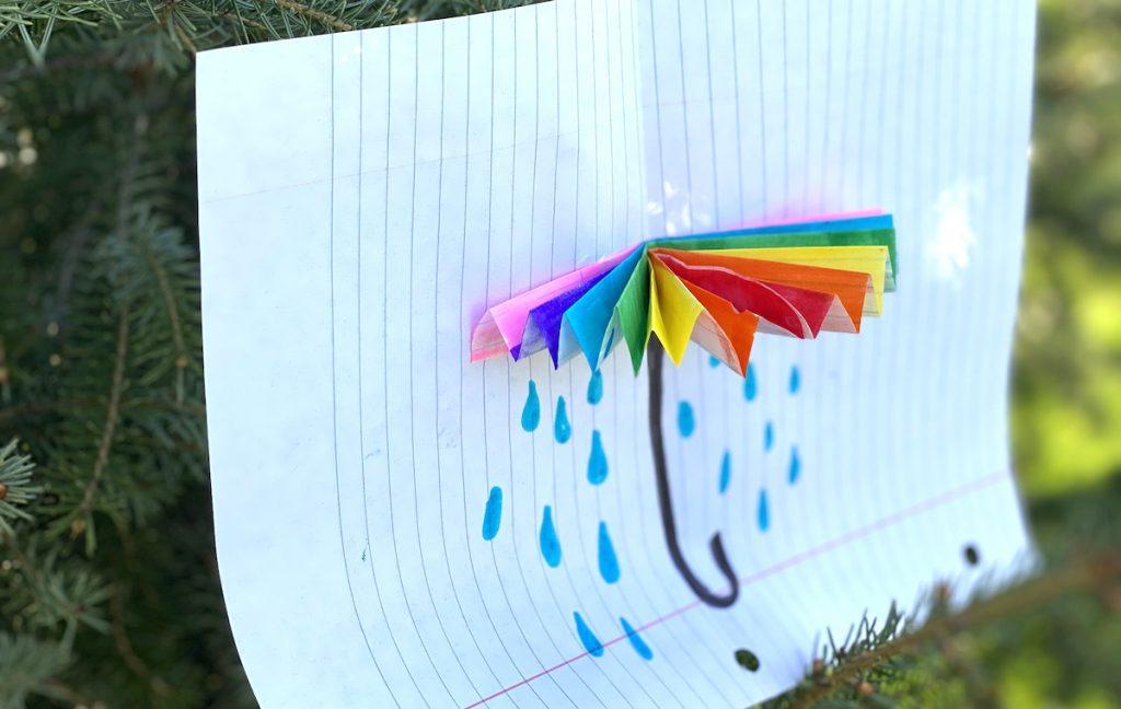 Umbrella pop-up artwork