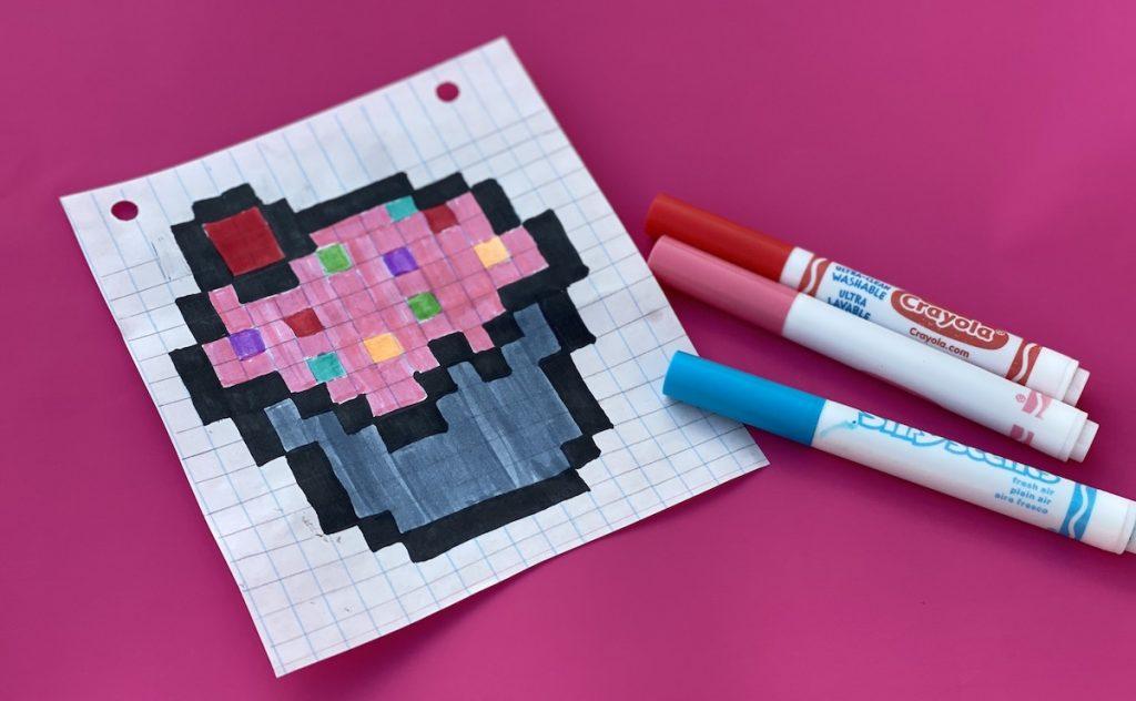 Cupcake image drawn on paper