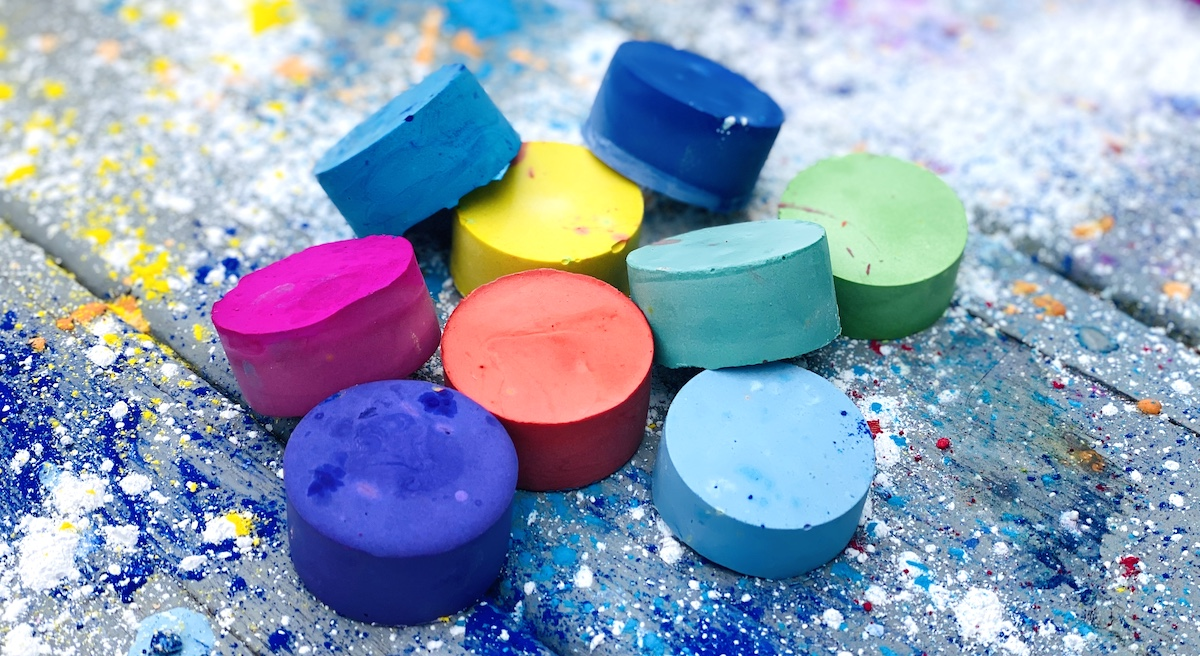 sidewalk chalk making supplies