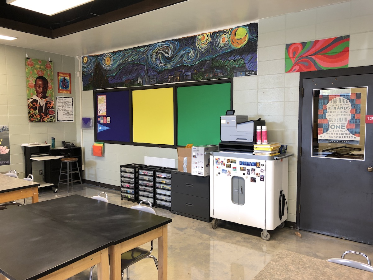 Empty clean classroom