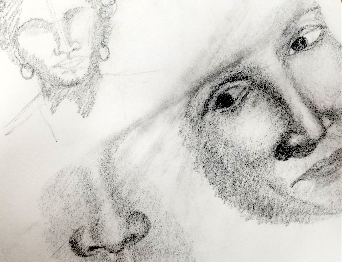 drawing of a face