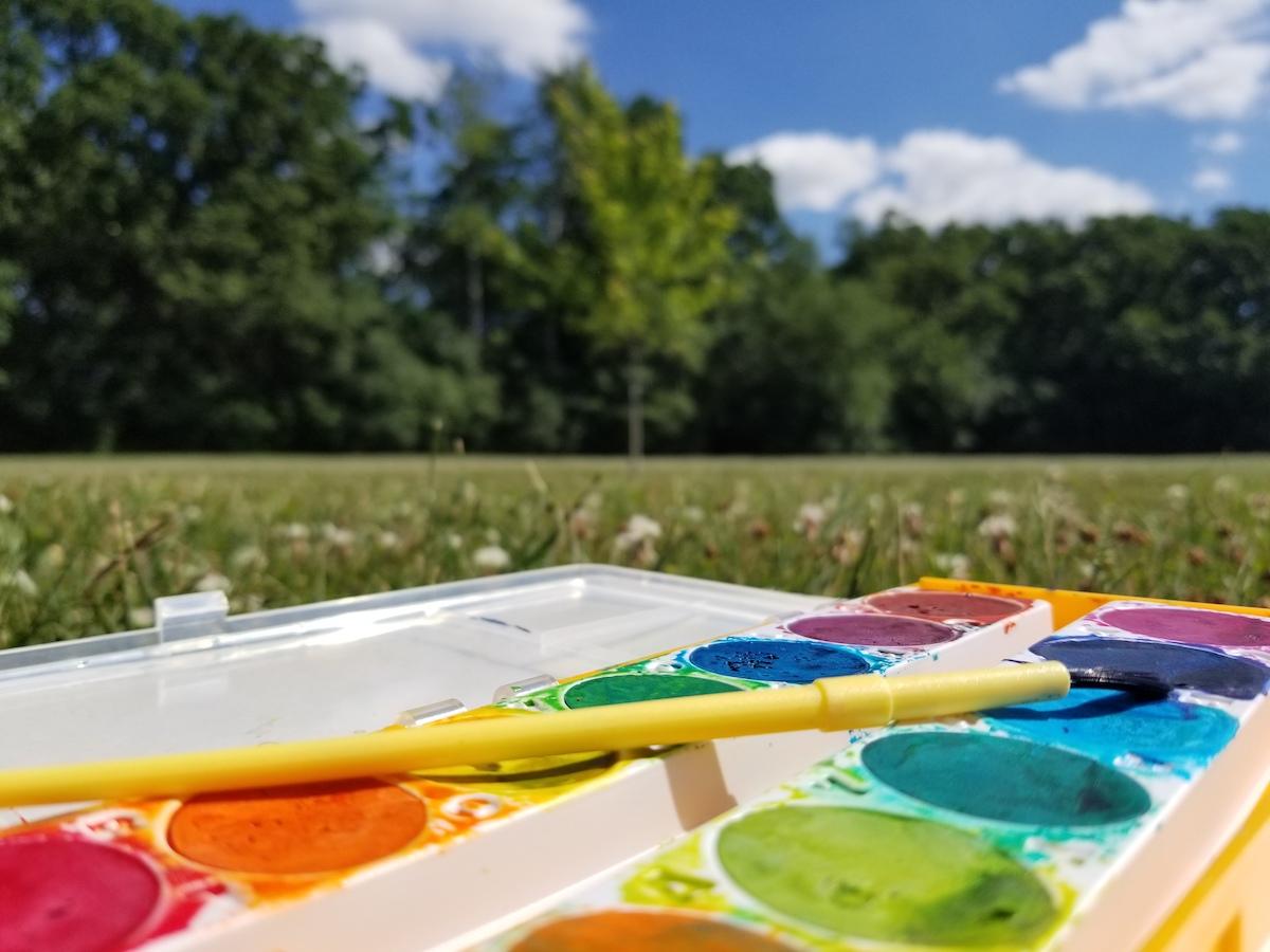 paint set outside