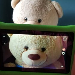teddy bear and ipad