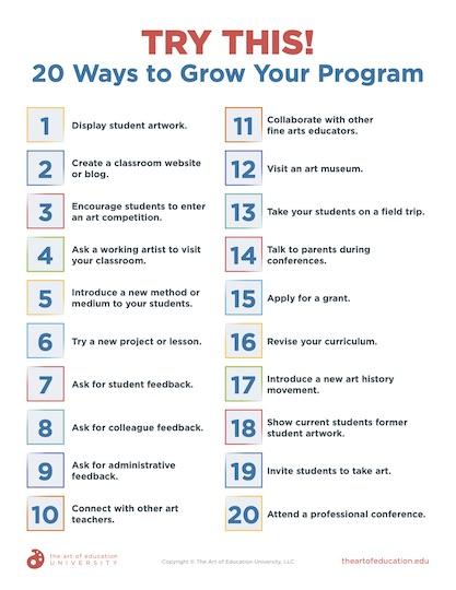 https://artofed-uploads.nyc3.digitaloceanspaces.com/2020/07/68.3-Try-This-20-Ways-to-Grow-Your-Program.pdf