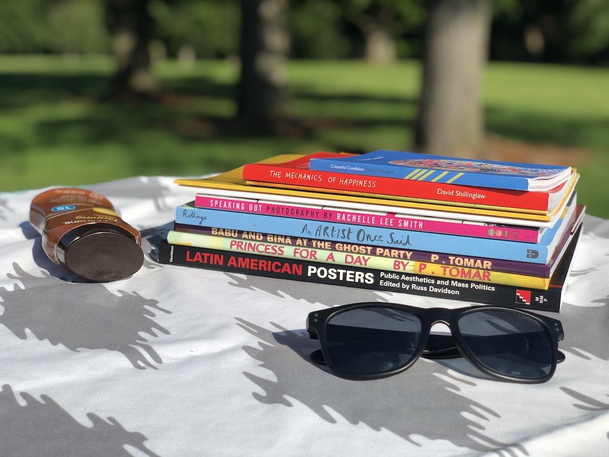 Books in sunshine