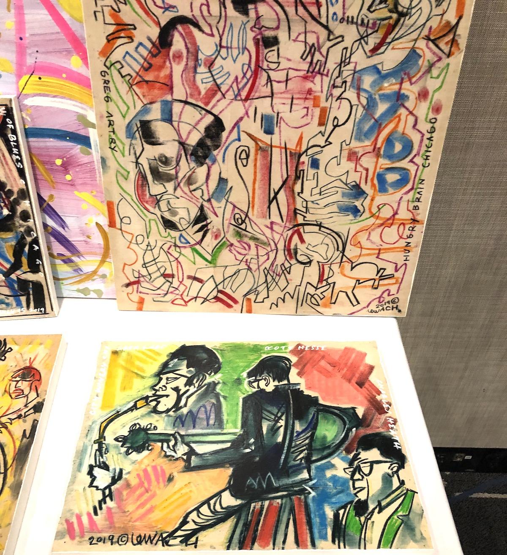 artwork on display on a table