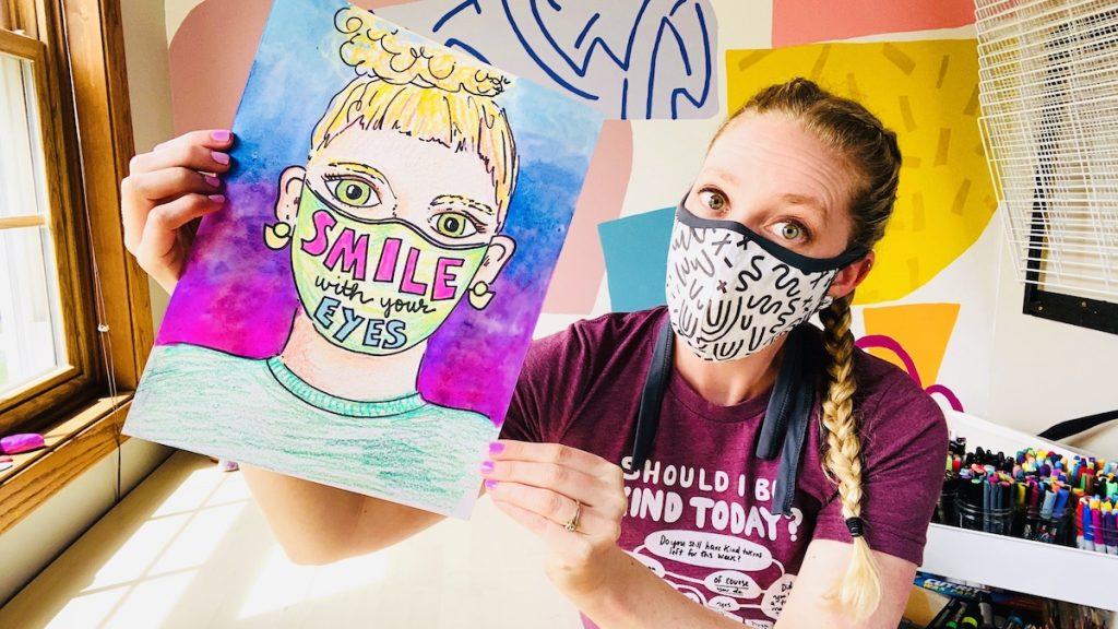 Teacher with Masks