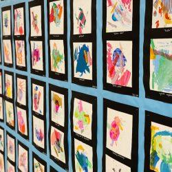 Abstract art on display