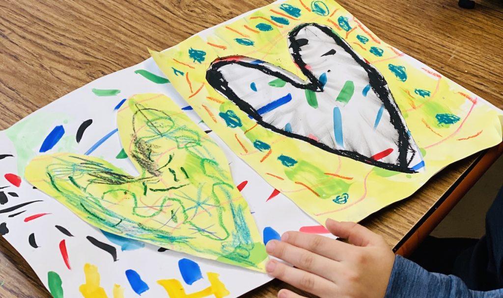 student heart artwork