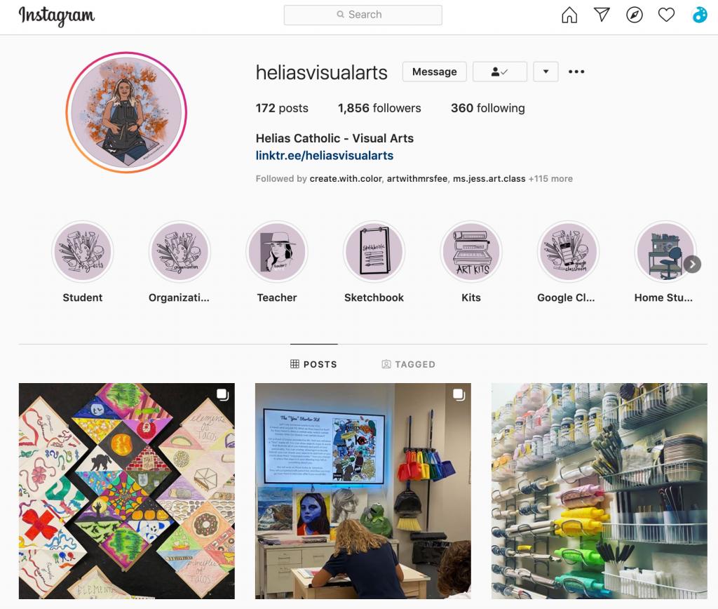 Instagram page of @heliasvisualarts