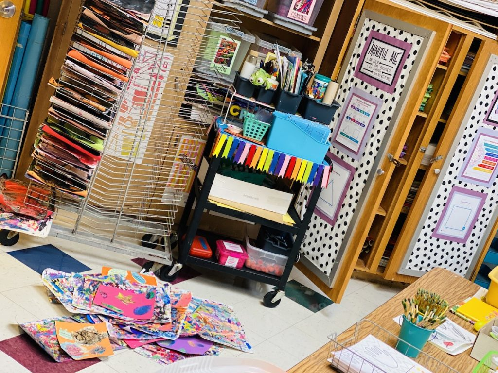 art cart and classroom supplies