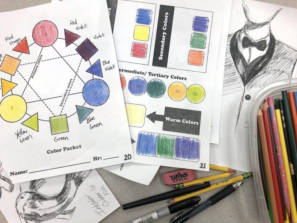 art worksheets
