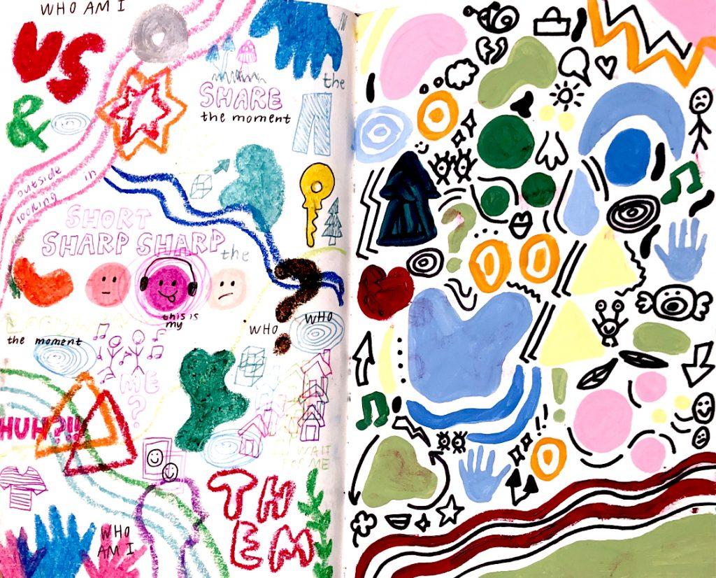 student artwork example