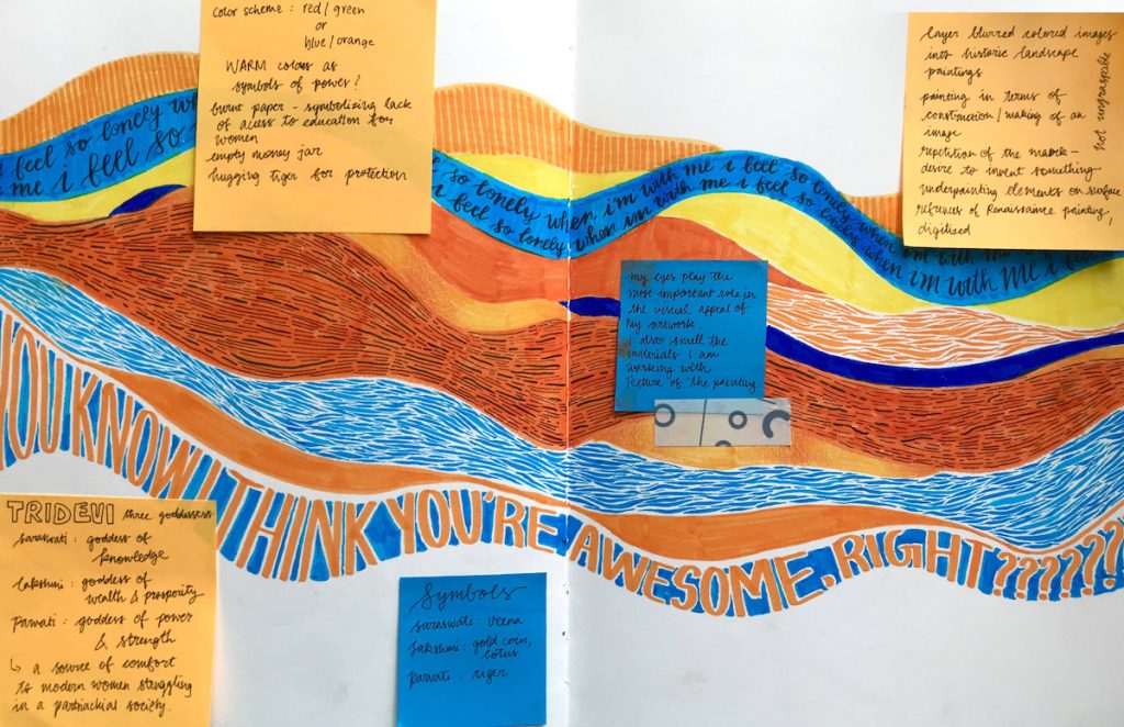 Student Example of a visual journal