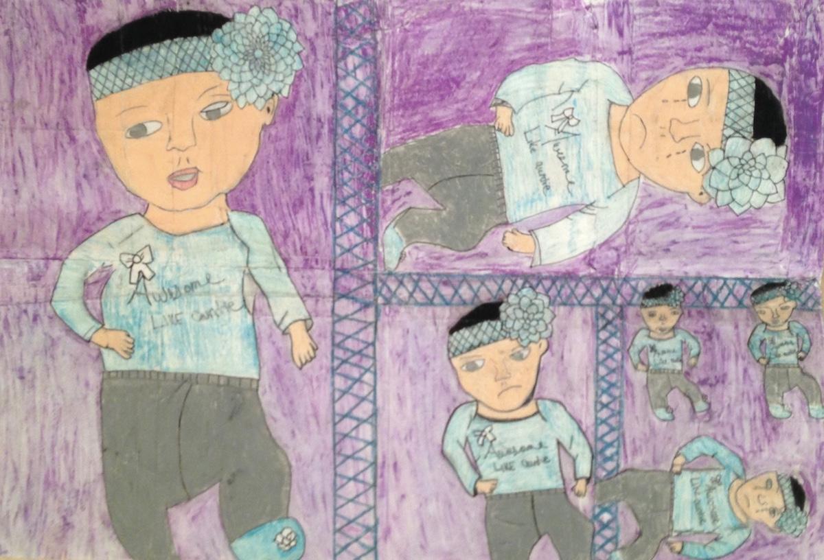 Student artwork for Trauma informed teaching
