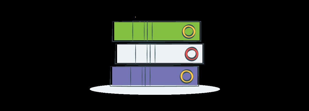 stack of three books