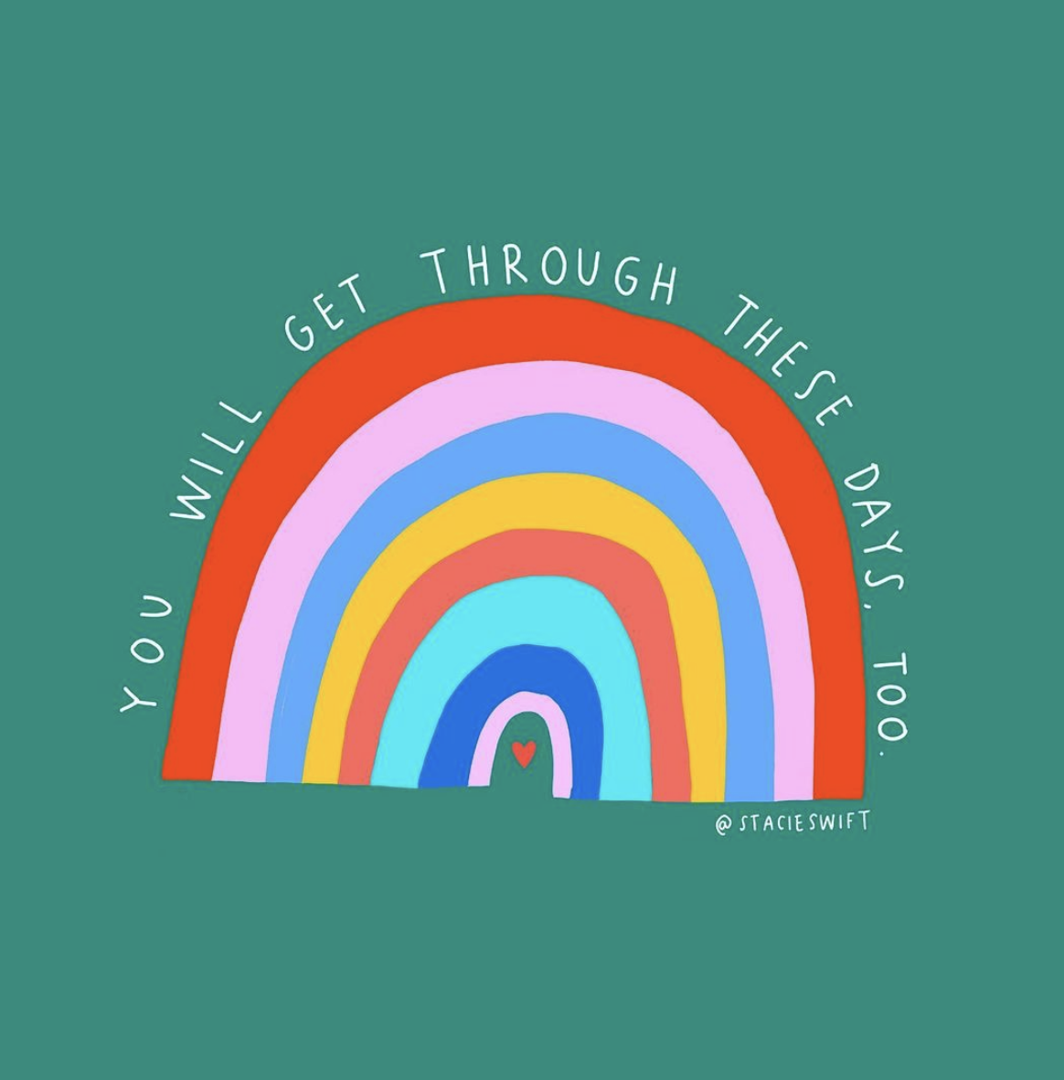 Rainbow illustrated with text