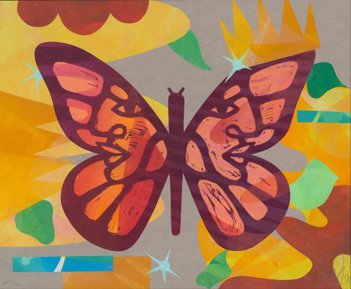 彩色的蝴蝶画