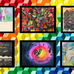 artwork on virtual display